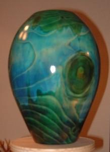 Coloured vessel by Keith Fenton